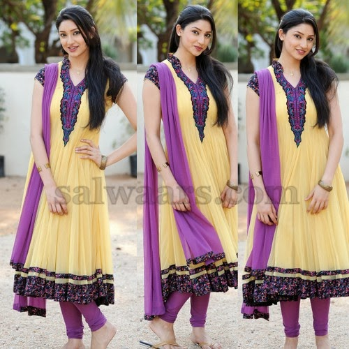 Tanvi Vyas Lemon Yellow Salwar