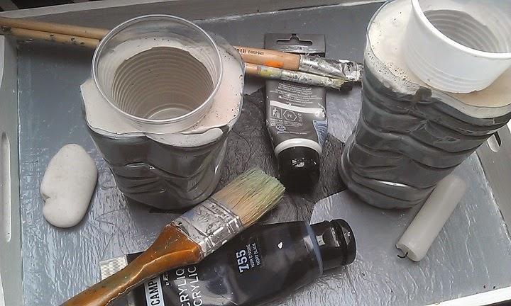Fotogeniczne badyle oraz wazon z gipsu - DIY.