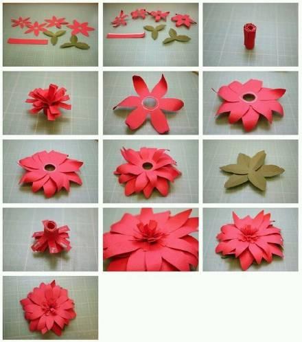 Цветы на из бумаги своими руками 7