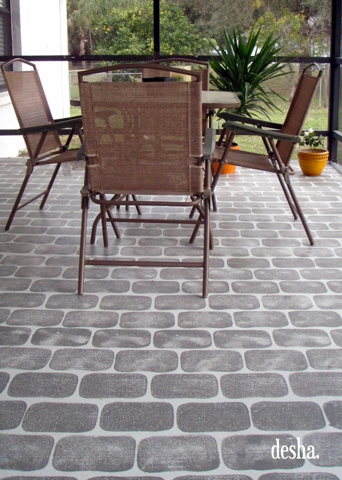 Faux Brick Patio.