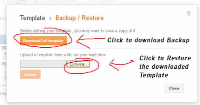 Backup restore new Blogger Template easily