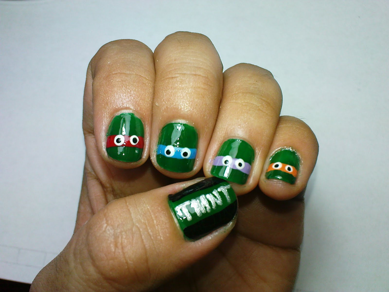 Fancy Ninja Turtle Nail Art Motif - Nail Art Design Ideas ...