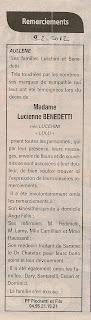 Remerciements Benedetti lucchini