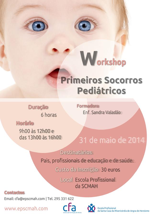 Workshop de primeiros socorros pediátricos em Angra do Heroísmo