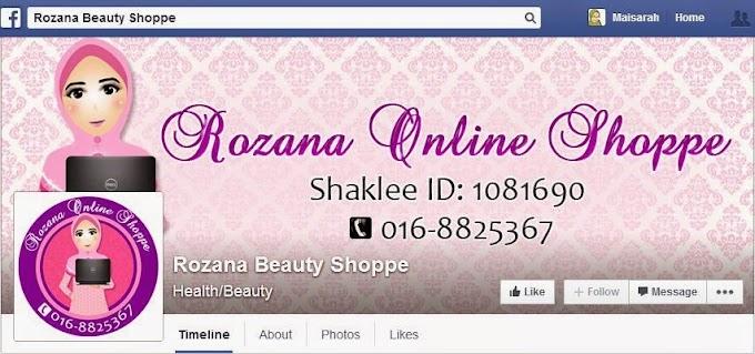 Tempahan Design Facebook Cover Photo: Rozana Beauty Shoppe
