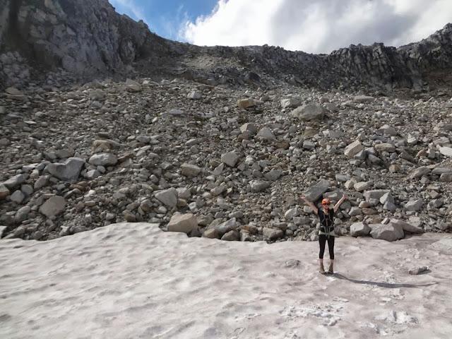 Col between Mt. Gandalf and Mt. Aragorn, Descent