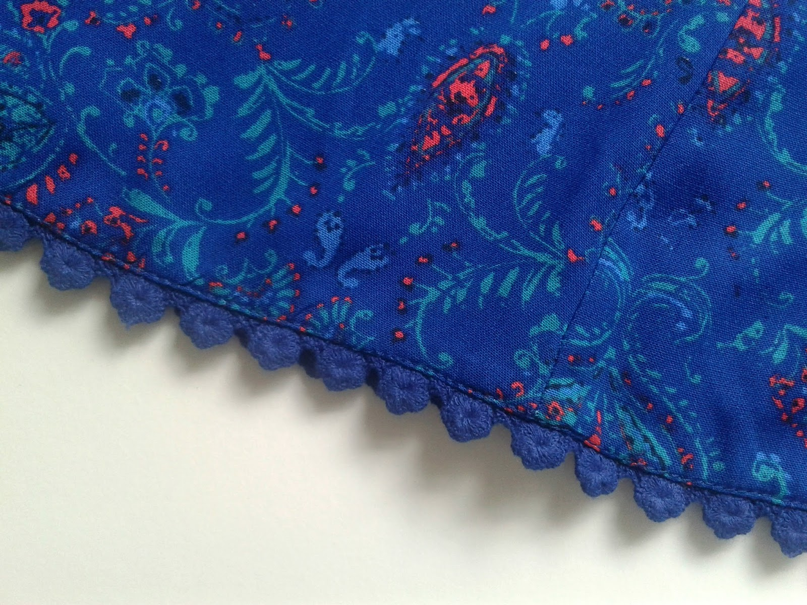 New Look Blue Paisley Print Crochet Hem High Waisted Shorts Outfit Review