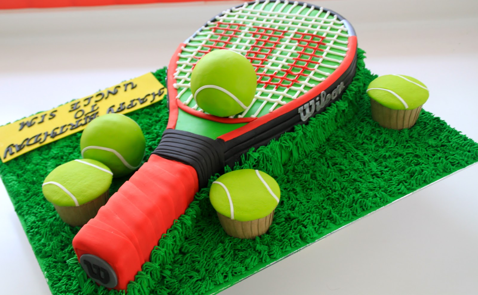 Tennis Racket Cake Decorations