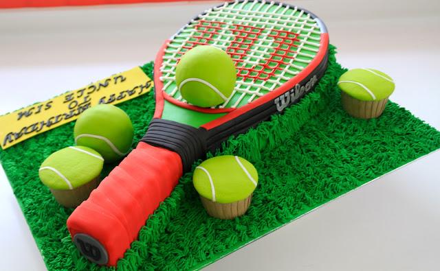 Making A Tennis Ball Cake