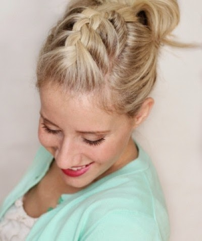 braided pompadour hairstyle