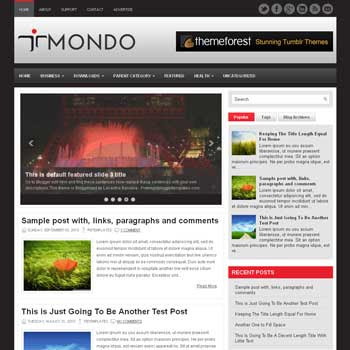 Mondo blog template. patter background blogger template. magazine style template blogspot. free blogspot template. 3 column footer blogger template