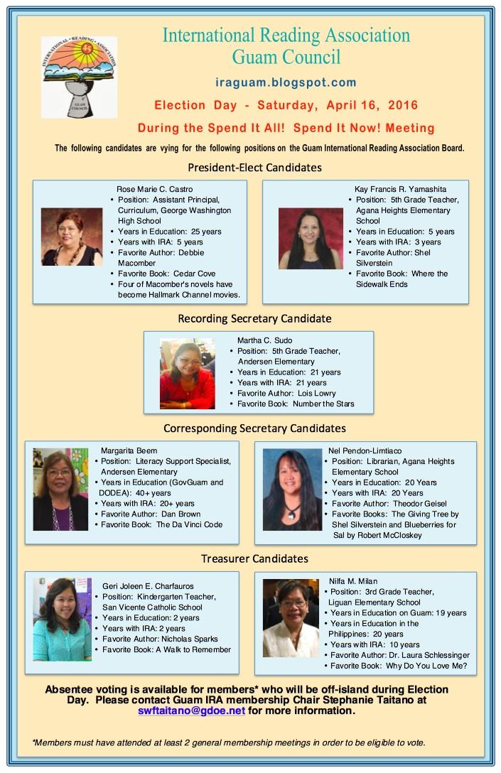 Guam IRA Election - April 16, 2016