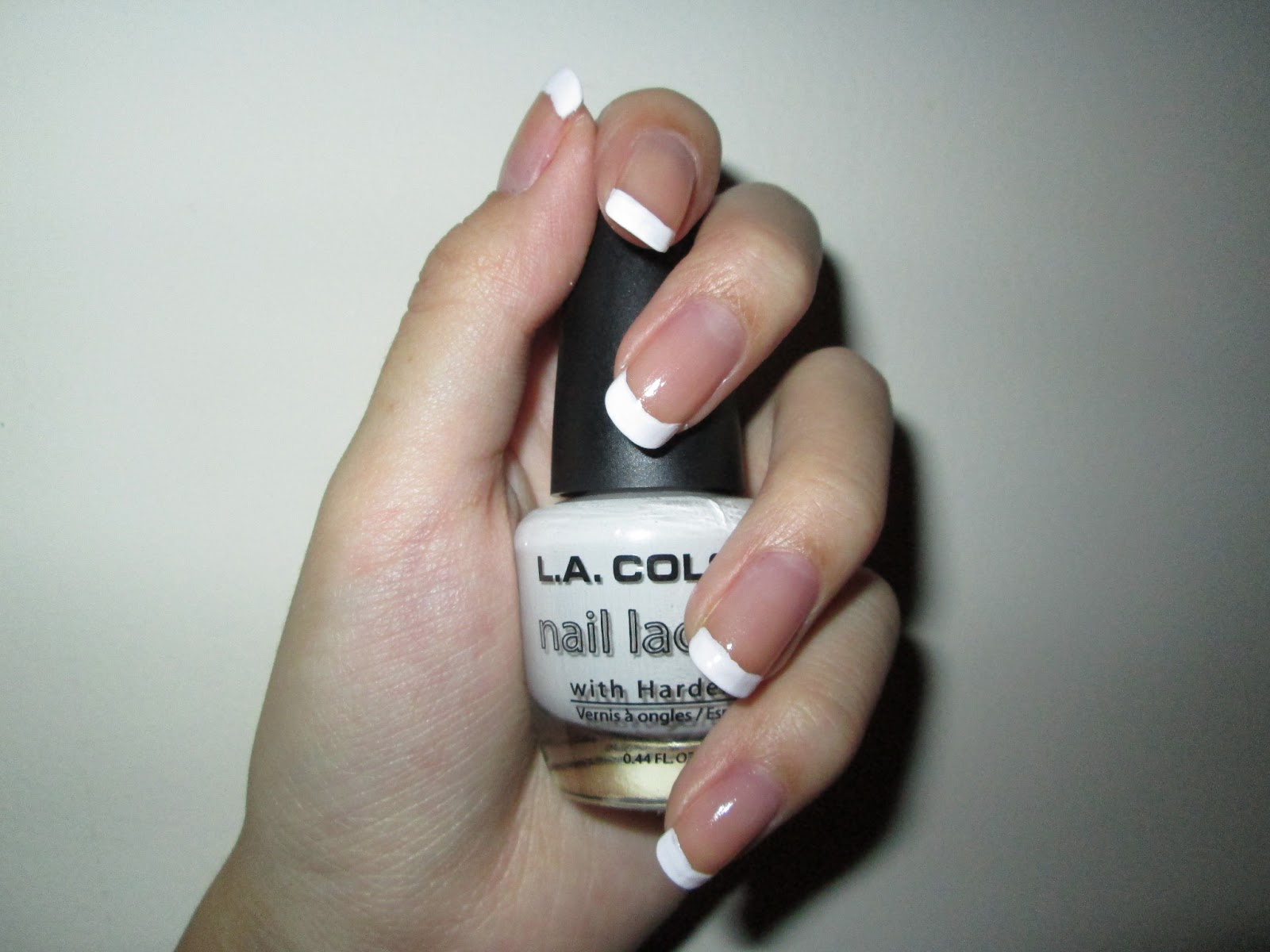 French Manicure Using L.A. Colors