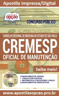 Apostila Cremesp Oficial de Manutenção (PDF) CD Grátis