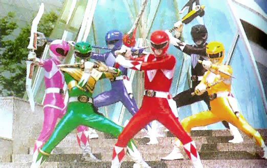 mighty morphin power rangers retro tokusatsu 90s angel grove teens