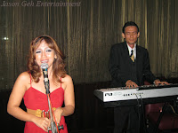 Event Jazz Singer and Keyboardist performing during the birthday dinner