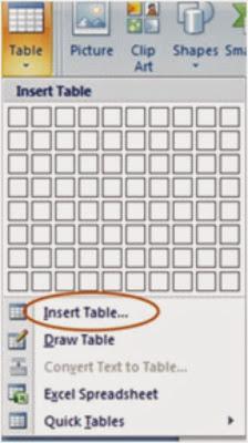 membuat dan mendesain tabel di microsoft word