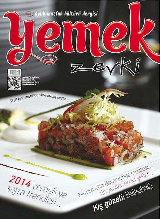 Tariflerim Yemek Zevki Dergisinde
