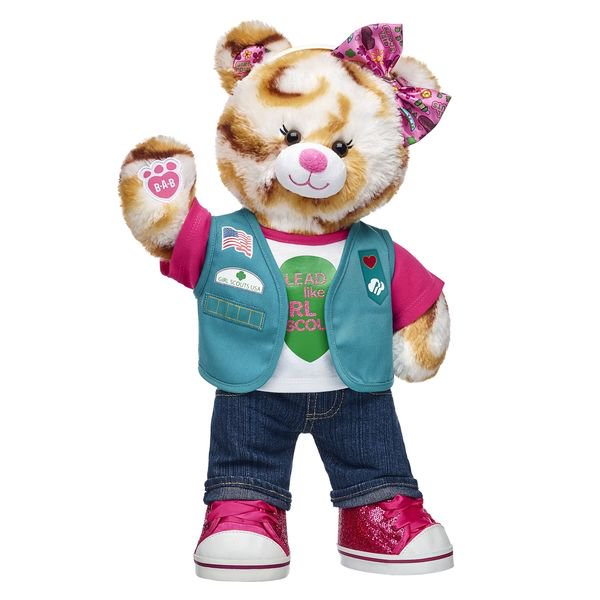 Girl Scout Junior S'mores Campout Bear is Available from Build-A-Bear for a Limited Time