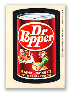 1960s 1970s wacky packs nostalgic memories ad stickers dr. popper dr. pepper