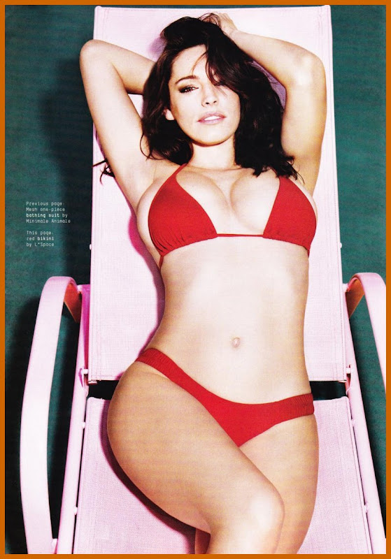 Kelly Brook Strips Down For Esquire Magazine cleavage
