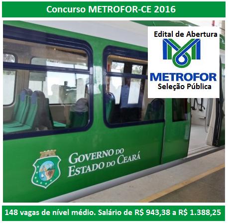 Apostila Concurso METROFOR CE 2016 - Companhia Cearense de Transportes Metropolitanos