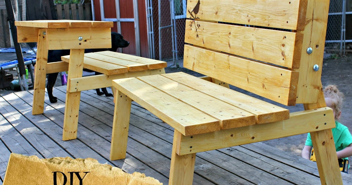 ... Kind of Crazy: Convertible Bench/Picnic Table you can make TOMORROW