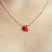 Today we made heart necklaces out of polymer clay.