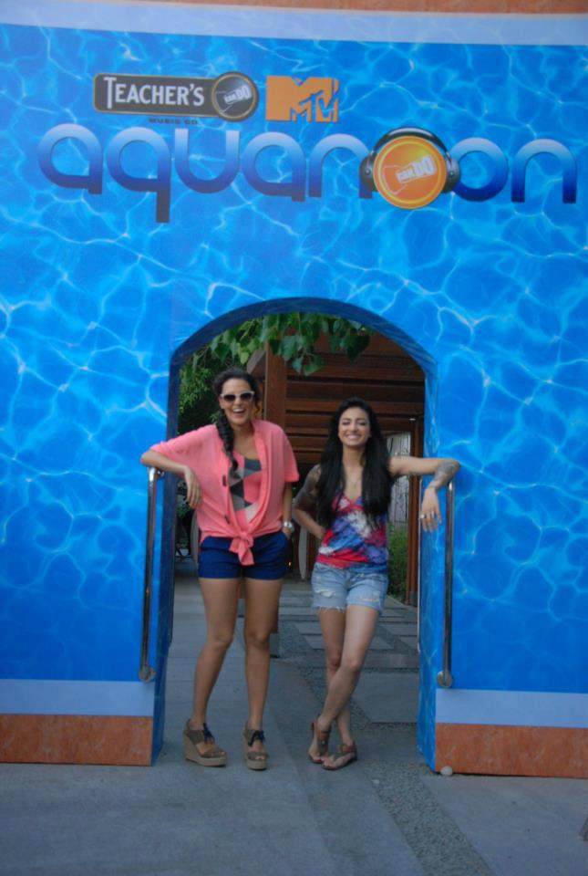 Neha Dhupia Bani J at Aquanoon Pool Party - Neha Dhupia and Bani J at Aquanoon Pool Party
