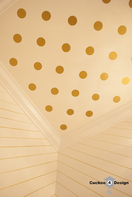 oracal 631 gold metallic polka dots