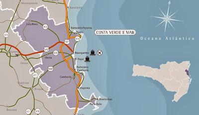 Mapa da Costa Verde - Santa Catarina