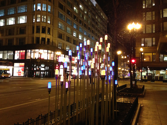 Easter lights in Chicago