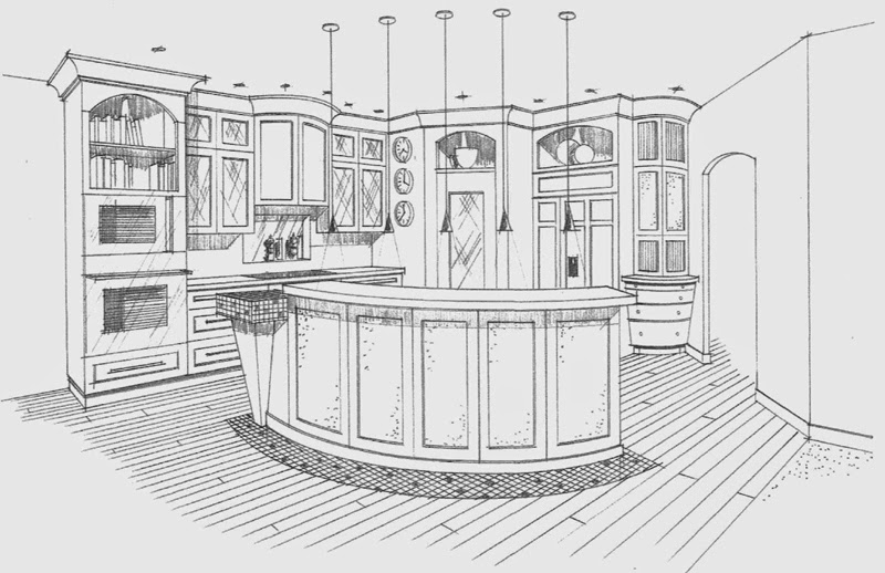 Interior Design Kitchen Drawings