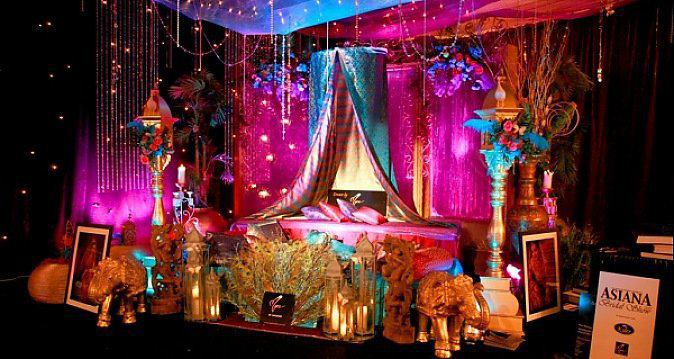 Image result for colourful stage decor