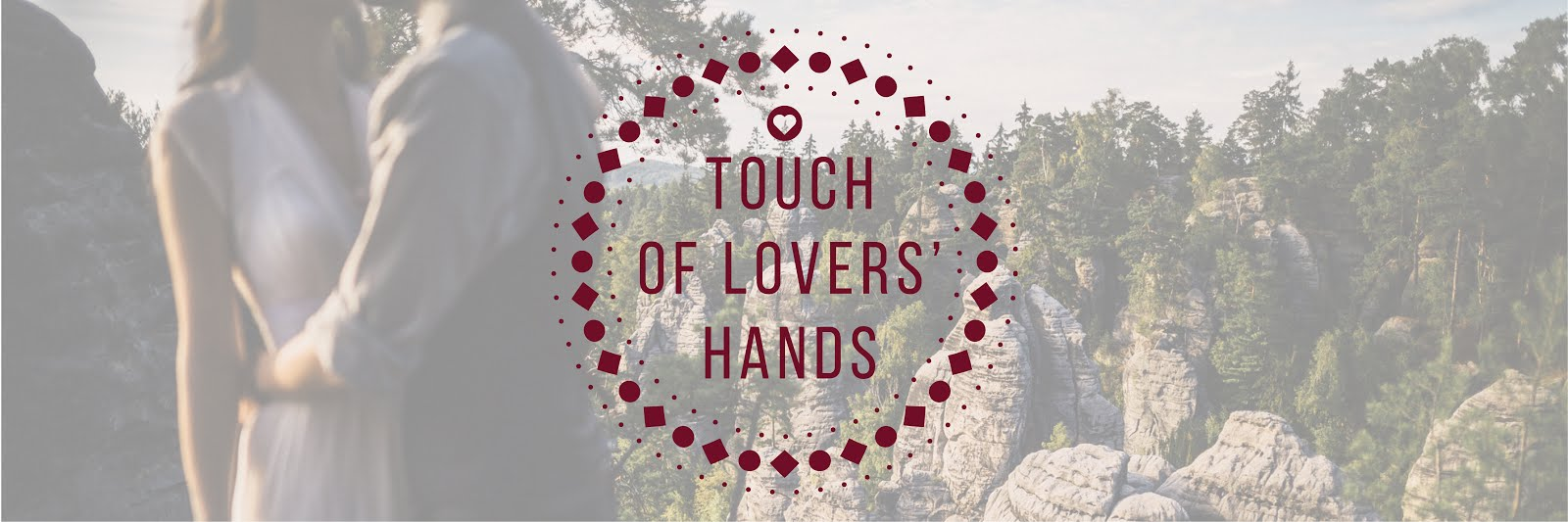 Touch of lovers' hands