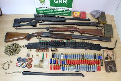 GNR deteve homem em Cerveira por posse de arma proibida e explosivos