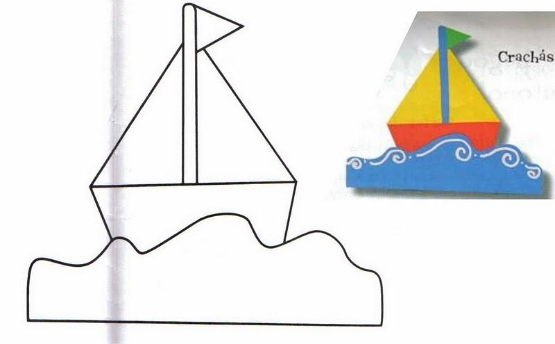 Barcos de goma Eva  Imagui