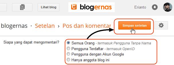 Cara Mengatur Siapa yang Boleh Komentar di Blog