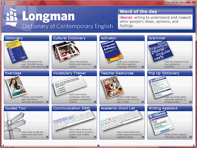 Longman Dictionary of Contemporary English 5th DVD 軟體畫面