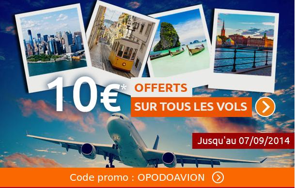 Promo Opodo, réduction de 10 euros