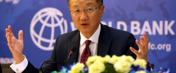 World Bank President Jim Yong Kim, addresses a press conference in New Delhi, India, Wednesday, July 23, 2014. (Credit: AP Photo /Manish Swarup) Click to enlarge.
