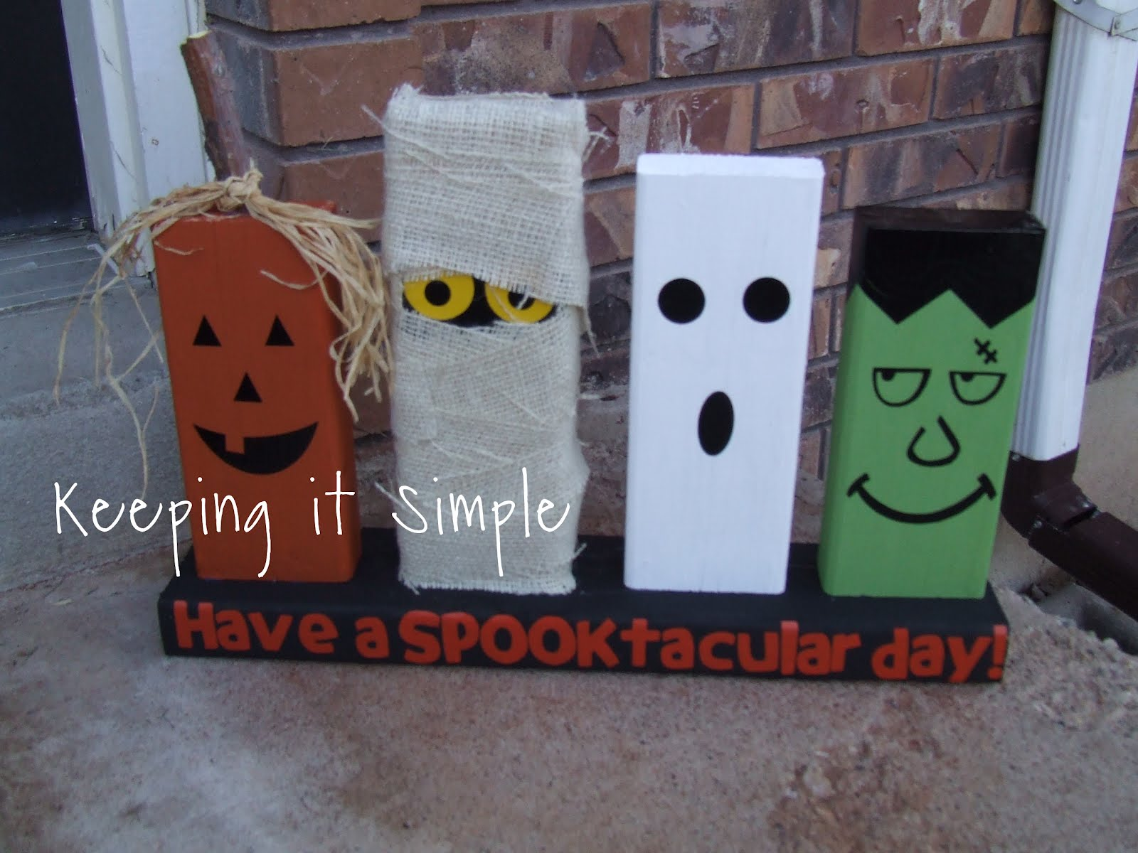 Keeping it simple spooktacular 2x4 halloween characters - Deco halloween diy ...