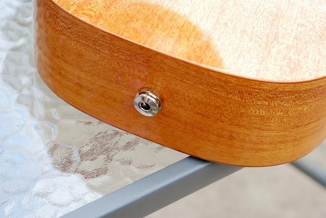 Pono MTD-E tenor ukulele jack pin