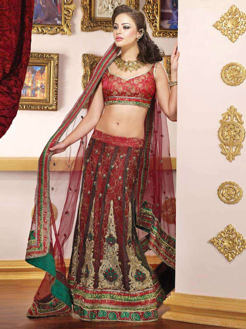 Women-Red-Lehenga-Choli