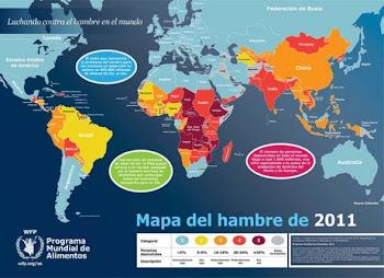 en el mapa del hambre de la ONU Bolivia figura con rojo