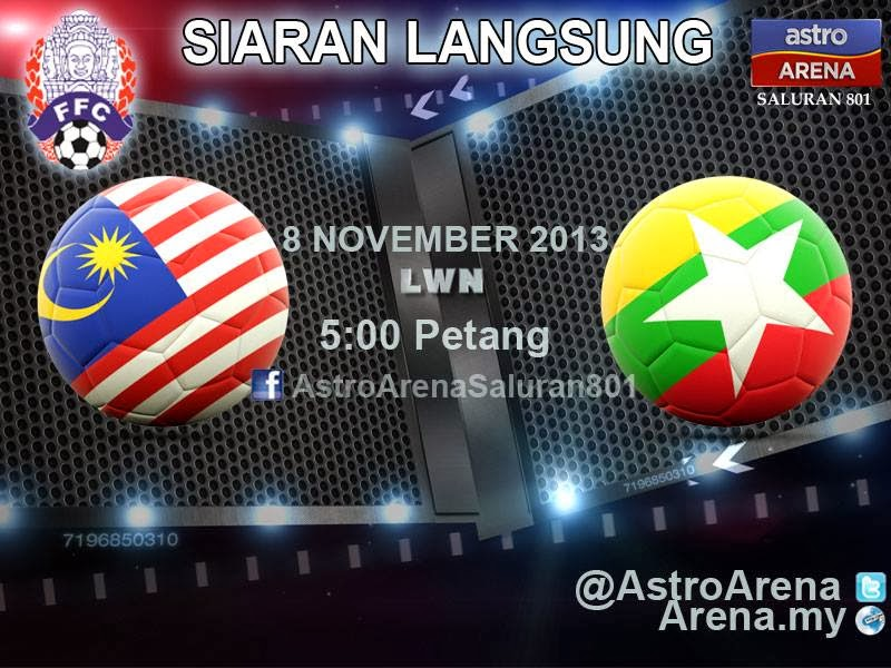 LIVE STREAMING MALAYSIA VS MYANMAR PIALA BIDC 2013, BIDC CUP 2013 HARIMAU MUDA VS MYANMAR LIVE ASTRO 8 NOV 2013