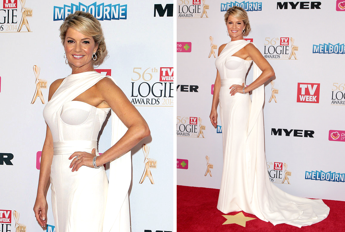 Sandra Sully in White - Logies 2014