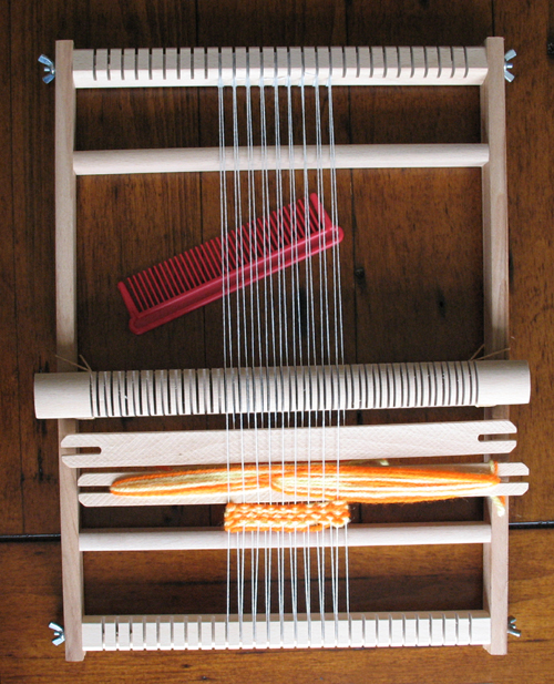 A beginners weaving loom