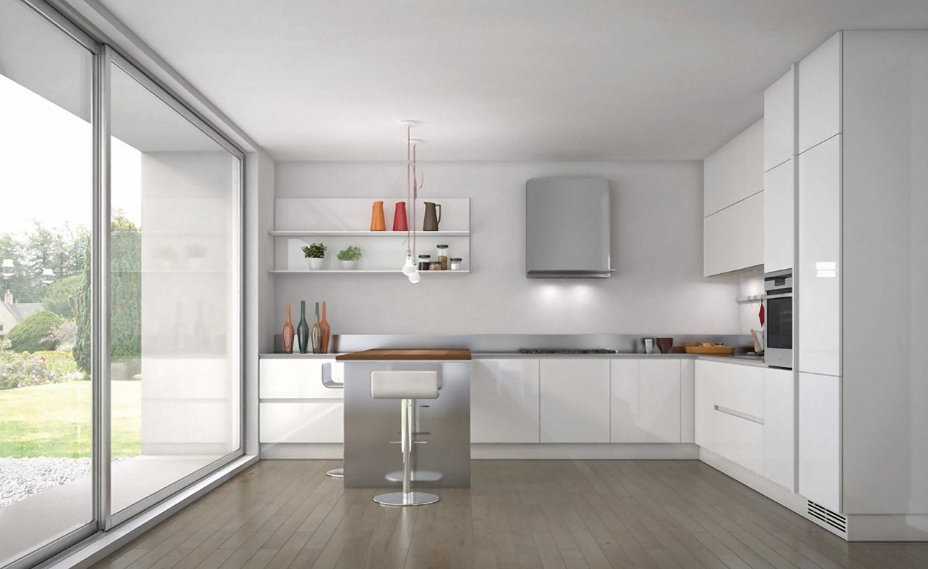 Shades of white kitchen for White kitchen designs
