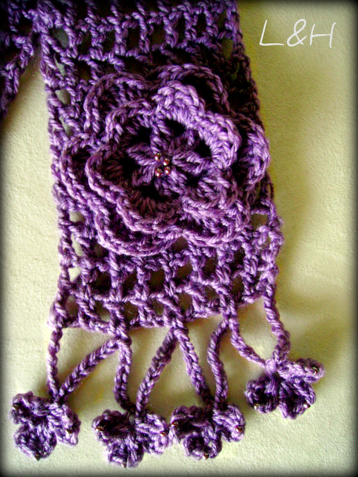 Lanas Hilos: Simple Lattice Scarf